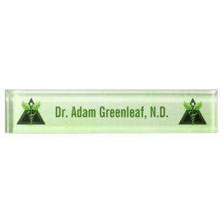Hellgrünes Caduceus-Alternativmedizin-Symbol