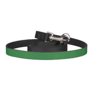 Hellgrünes Herz-Muster-dunkelgrüner Hintergrund Hundeleine