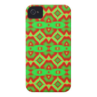 hellgrünes rotes Fraktalmuster iPhone 4 Case-Mate Hüllen