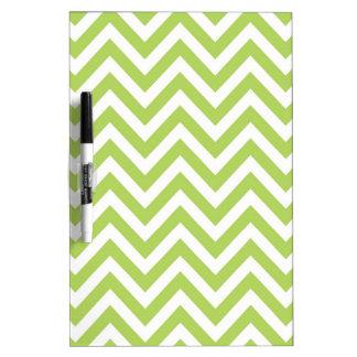 Hellgrünes und weißes gestreiftes Zickzack-Muster Memo Board