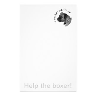 Help the boxer! bedrucktes büropapier