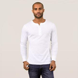 Henley die Leinwand der Männer langes T-Shirt