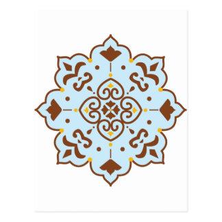 Hennastrauch-persische Wolldecke-Mandala Postkarte