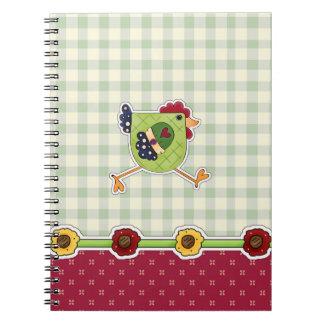 Henne-Land-Entwurfs-Ostern-Geschenk-Notizbuch Notizblock