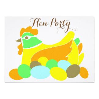 Henne-Party 14 X 19,5 Cm Einladungskarte