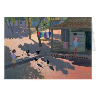 Hennen und Hühner Kuba 1997 Karte