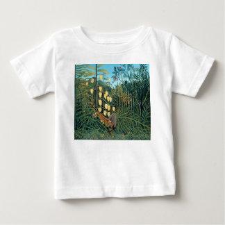 Henri Rousseau - kämpfender Tiger und Büffel Baby T-shirt