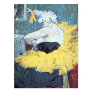 Henride Toulouse-Lautrec: Das clownesse Cha u Kao Postkarte