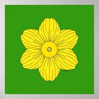 Heraldische Narzisse Poster