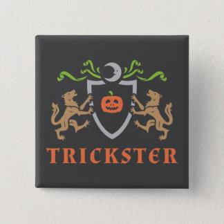 Heraldischer Trickster Quadratischer Button 5,1 Cm