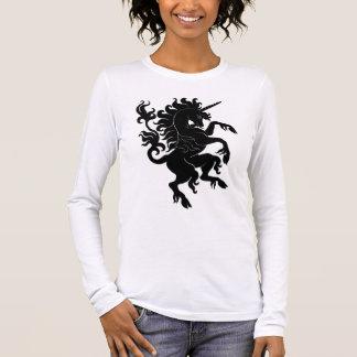Heraldisches Einhorn Langärmeliges T-Shirt