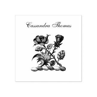 Heraldisches Rosen-u. Distel-Wappen Wappen-Farbe Gummistempel