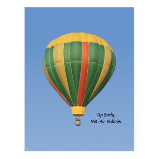 Herauf frühen Heißluft-Ballon Postkarte