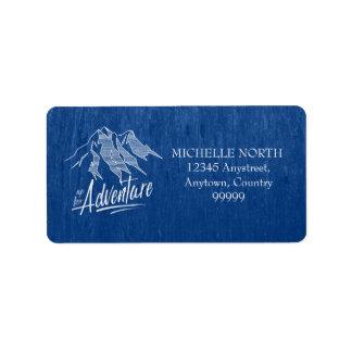 Herauf für Abenteuer-Berge weißes ID358 Adressaufkleber