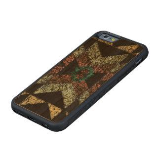 Heraus-abgenutztes Stammes- Muster Bumper iPhone 6 Hülle Kirsche