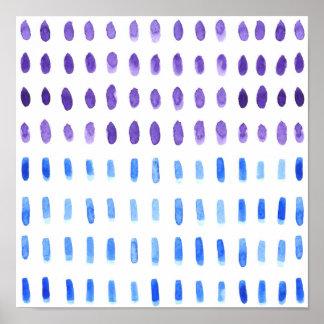 Heraus u. heraus Wasserfarbe-Foto-Druck Poster