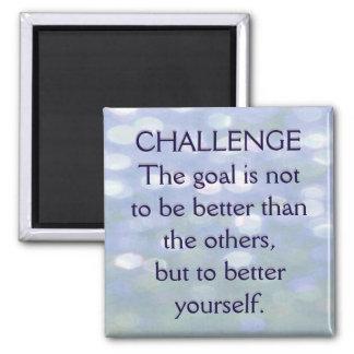 Herausforderungs-motivierend Mitteilung Quadratischer Magnet