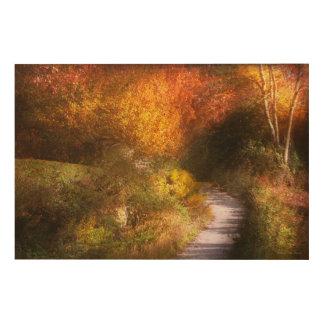 Herbst - Bäume - die Spur des Himmels Holzdruck