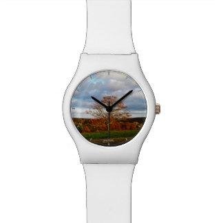 Herbst-Bäume Uhr