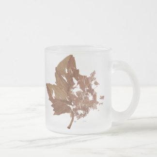 Herbst-Blatt-Kaffee-Tasse Matte Glastasse