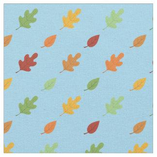 Herbst-Blätter-buntes Himmel-Blau-Fall-Blatt Stoff