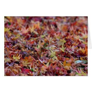 Herbst-Blätter Karte