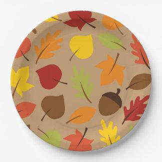 Herbst-Blätter Pappteller