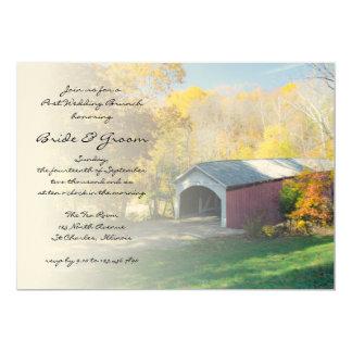 Herbst-Brücken-Posten-Hochzeits-Brunch laden ein 12,7 X 17,8 Cm Einladungskarte