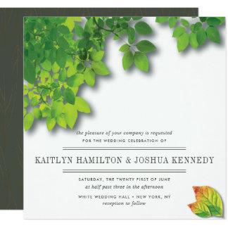 Herbst-Eichen-elegante Hochzeit Karte