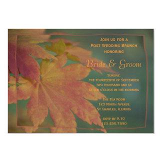 Herbst färbt Posten-Hochzeits-Brunch-Einladung 12,7 X 17,8 Cm Einladungskarte