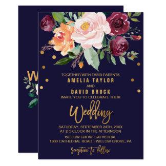 Herbst mit Blumen mit 12,7 X 17,8 Cm Einladungskarte