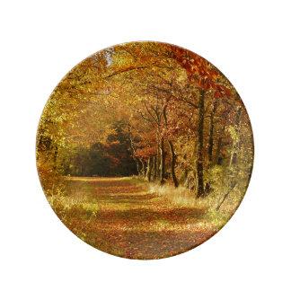 Herbst-Straße Teller Aus Porzellan