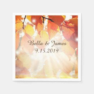 Herbst verlässt Hochzeit im Servietten