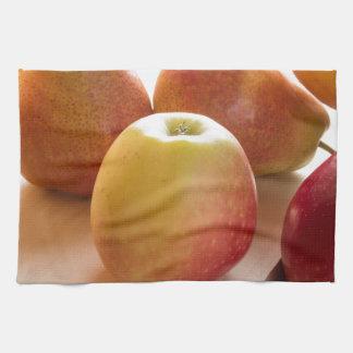 Herbsternte der Äpfel und der Birnen Geschirrtuch