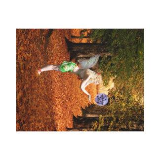 Herbstfee Leinwanddruck