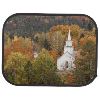 Herbstlandschaft mit Kirche, Vermont, USA Autofußmatte