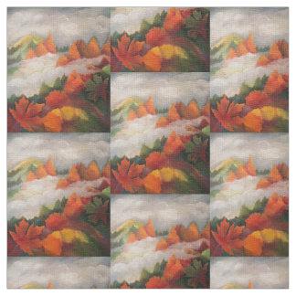 Herbstlandschaftsgewebe Stoff