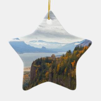 Herbstlaub in Kronen-Punkt-Columbia River Schlucht Keramik Ornament