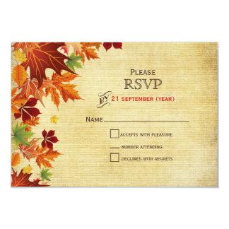 Herbstlaub-rustikale Hochzeit 8,9 X 12,7 Cm Einladungskarte
