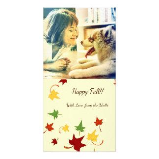 Herbstlaub: Wirbles Blätter, kundengebundene Fotokarten