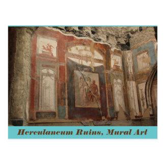 Herculaneum-Ruinen, Wandkunst, Italien-Postkarte Postkarte