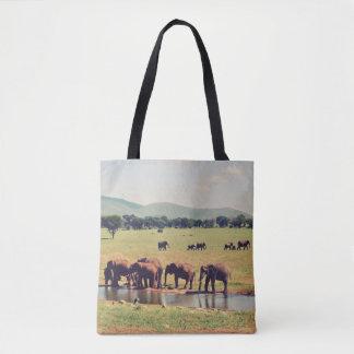 Herde der Elefant-Taschen-Tasche