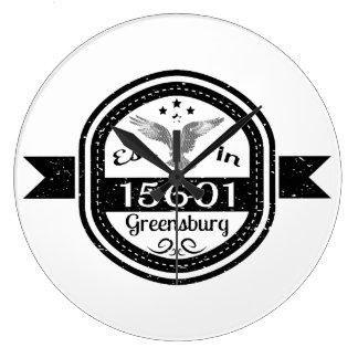 Hergestellt in 15601 Greensburg Große Wanduhr