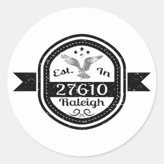 Hergestellt in 27610 Raleigh Runder Aufkleber