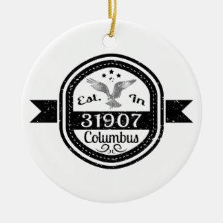 Hergestellt in 31907 Columbus Keramik Ornament