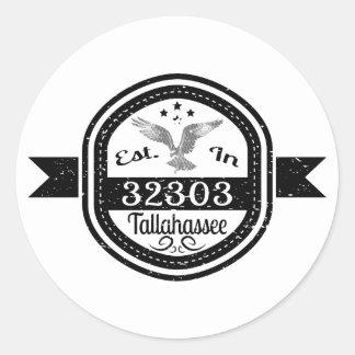 Hergestellt in 32303 Tallahassee Runder Aufkleber