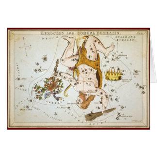 Herkules und Korona Borealis Grußkarte