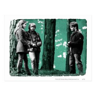 Hermione, Ron und Harry 1 Postkarte