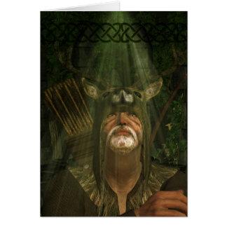 Herne der Jäger - Fantasie-Kunst-Gruß-Karte Karte