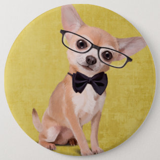 Herr Chihuahua Runder Button 15,3 Cm